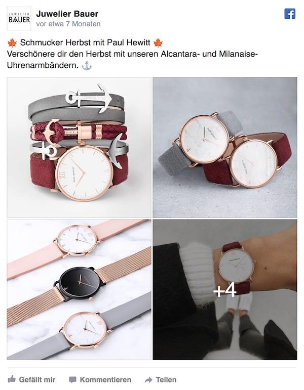Facebook von Juwelier Bauer