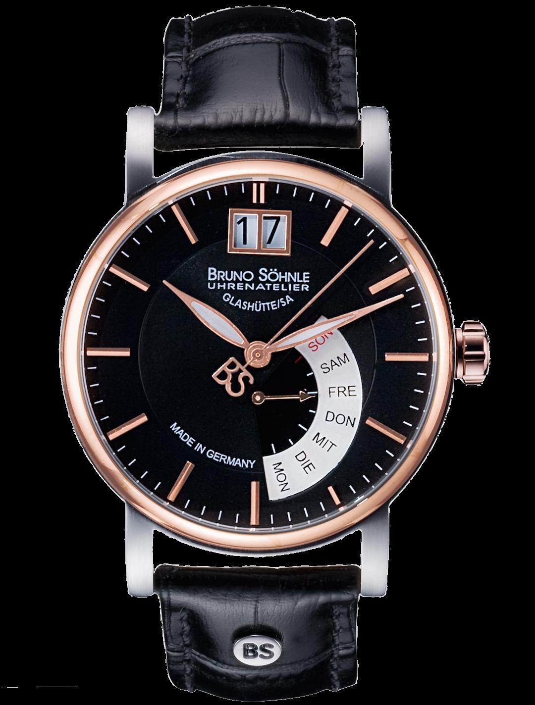 Bruno Söhnle Uhr mit schwarzem Zifferblatt